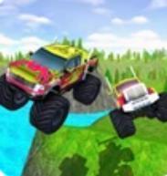 爬上山的怪物卡车