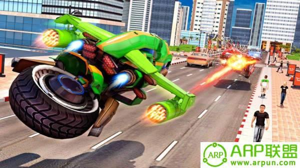 飞行摩托机器人