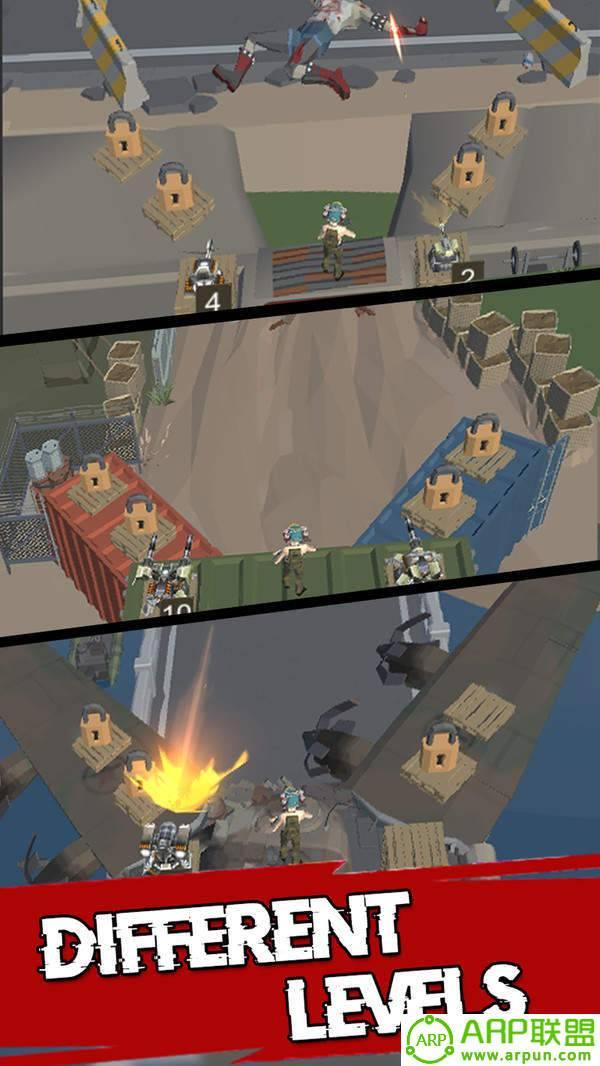 合并炮塔僵尸防御