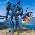 鲨鱼机器人变身