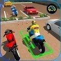 摩托车的停车场