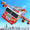 飞行消防车变身机器人