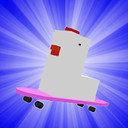 方块鸡滑板