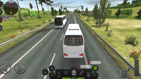 真实驾驶大巴车