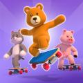 毛绒动物溜冰队