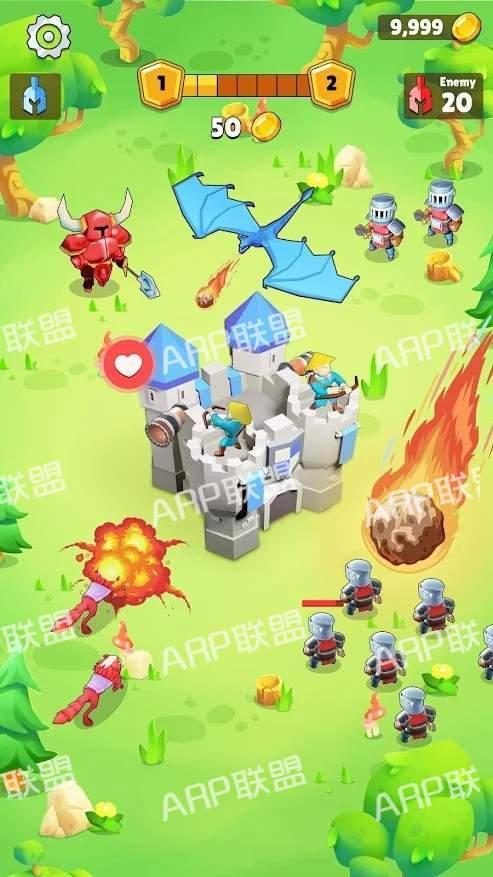 自动成长城堡塔防