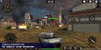 战争坦克vs武装直升机