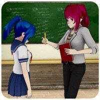 动漫女孩高中老师
