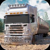 卡车泥地驾驶运输